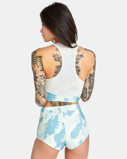 1 Wavelength Printed High-Rise Cheeky Bikini Bottom Blue AVJX400182 RVCA