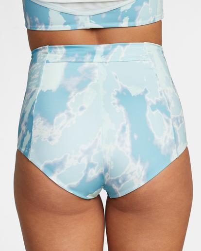 7 Wavelength Printed High-Rise Cheeky Bikini Bottom Blue AVJX400182 RVCA