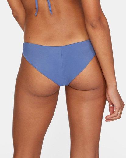 5 Solid Low-Rise Cheeky Bikini Bottom Blue AVJX400189 RVCA