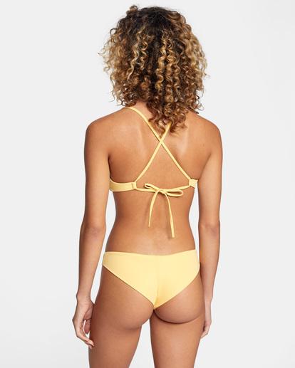 0 Solid Low-Rise Cheeky Bikini Bottom White AVJX400189 RVCA