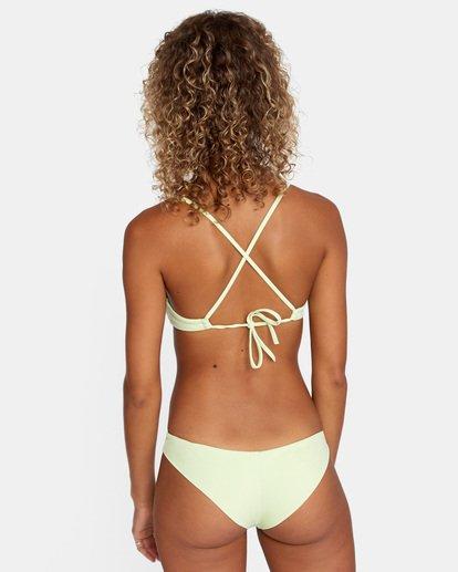 0 Solid Low-Rise Cheeky Bikini Bottom Green AVJX400189 RVCA