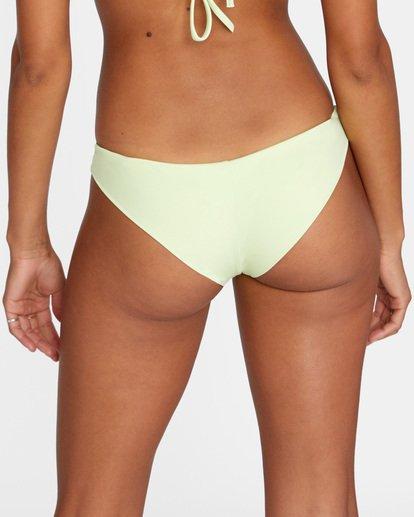 5 Solid Low-Rise Cheeky Bikini Bottom Green AVJX400189 RVCA