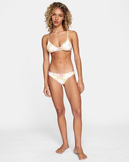 2 Mary Printed Cheeky Bikini Bottom White AVJX400192 RVCA