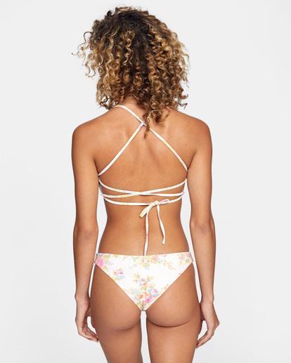 0 Mary Printed High-Rise Cheeky French Bikini Bottom White AVJX400199 RVCA