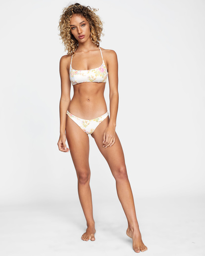 2 Mary Printed High-Rise Cheeky French Bikini Bottom White AVJX400199 RVCA