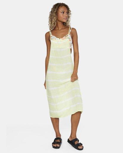 5 Island Hopper Tie-Dye Dress Green AVJX600107 RVCA