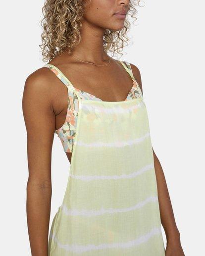 9 Island Hopper Tie-Dye Dress Green AVJX600107 RVCA