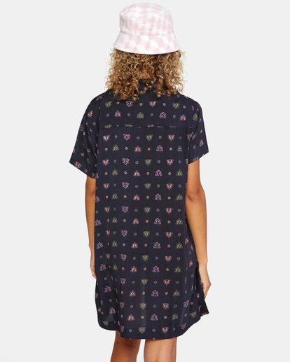 7 Hot Shot Printed Shirt Dress White AVJX600109 RVCA
