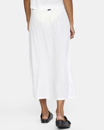 7 After Hours Solid Skirt White AVJX600112 RVCA