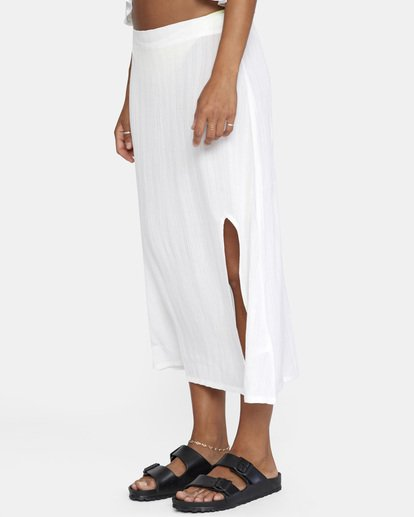 3 After Hours Solid Skirt White AVJX600112 RVCA