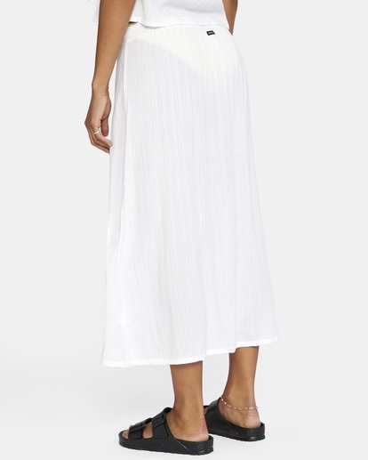 4 After Hours Solid Skirt White AVJX600112 RVCA