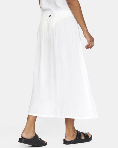 5 After Hours Solid Skirt White AVJX600112 RVCA