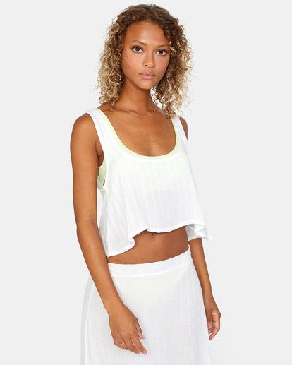 6 After Hours Solid Top White AVJX600113 RVCA