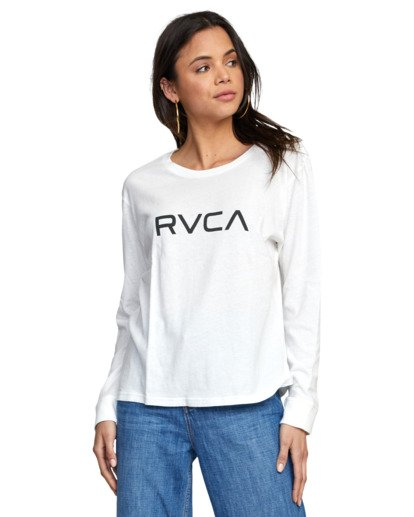 6 BIG RVCA STOLEN LONG SLEEVE TEE White AVJZT00103 RVCA