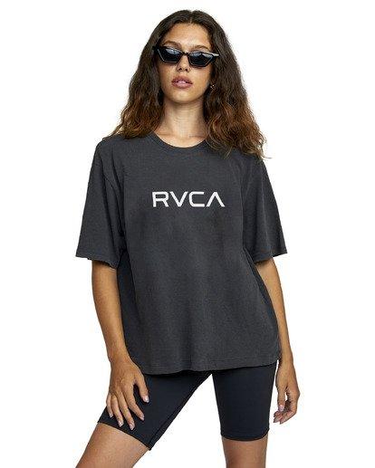 0 Big RVCA Short Sleeve Tee Black AVJZT00248 RVCA