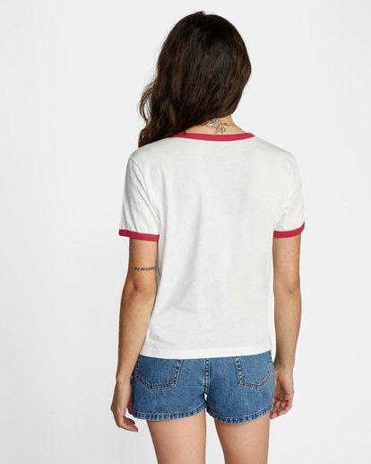 1 Scribble RVCA Short Sleeve Ringer Tee White AVJZT00256 RVCA