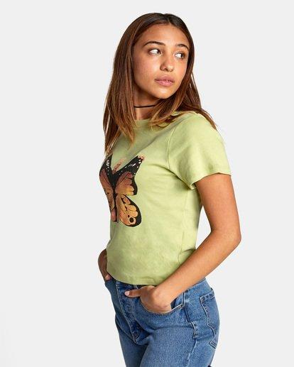 5 Dana Trippe Dana Butterfly Short Sleeve Tee Green AVJZT00258 RVCA