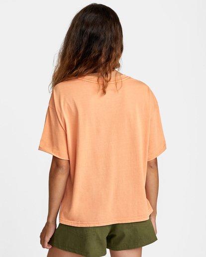 1 PTC Roll It Short Sleeve Tee Orange AVJZT00276 RVCA