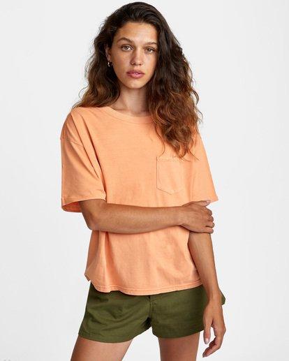 0 PTC Roll It Short Sleeve Tee Orange AVJZT00276 RVCA
