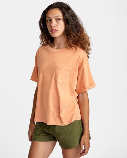 3 PTC Roll It Short Sleeve Tee Orange AVJZT00276 RVCA