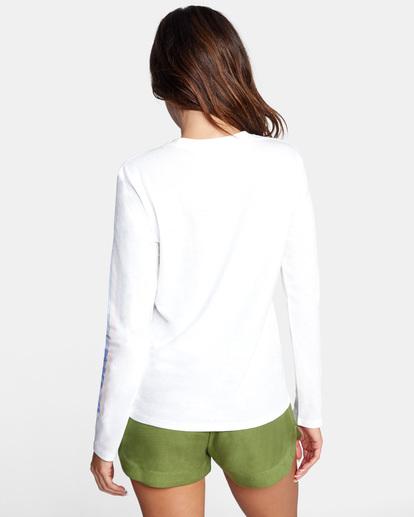 1 La 84 Long Sleeve Tee White AVJZT00298 RVCA