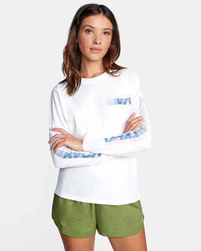 0 La 84 Long Sleeve Tee White AVJZT00298 RVCA