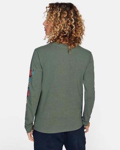 1 Framed Long Sleeve Tee Green AVJZT00299 RVCA
