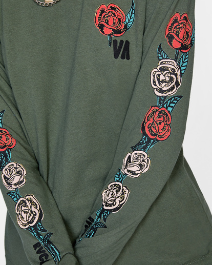 2 Framed Long Sleeve Tee Green AVJZT00299 RVCA