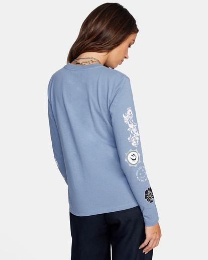 5 Mash Up Long Sleeve Tee Blue AVJZT00300 RVCA