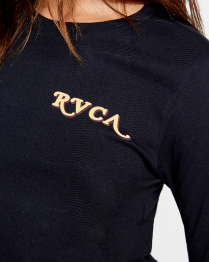 2 Retro Long Sleeve Tee Black AVJZT00301 RVCA