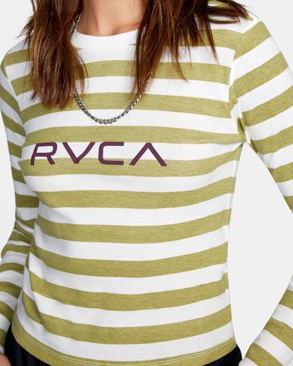 2 Little RVCA Long Sleeve Tee White AVJZT00303 RVCA