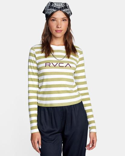 0 Little RVCA Long Sleeve Tee White AVJZT00303 RVCA