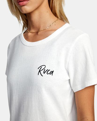 2 Run It Tee White AVJZT00318 RVCA