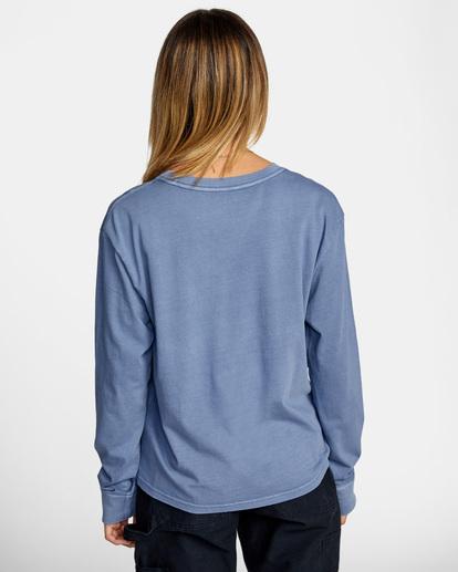 1 Stolen Long Sleeve Tee Blue AVJZT00342 RVCA