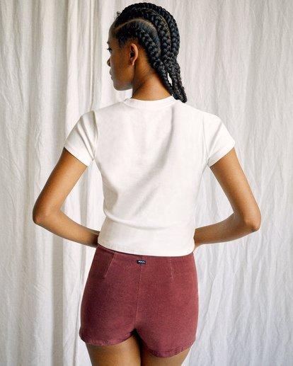 2 Camille Rowe | Arrete De Parler T-Shirt White AVJZT00344 RVCA