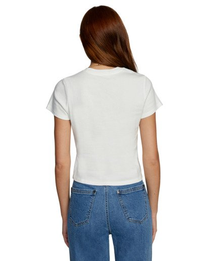 2 Camille Rowe | Psych T-Shirt White AVJZT00345 RVCA