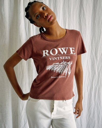 4 Camille Rowe | Vinters T-Shirt Brown AVJZT00346 RVCA