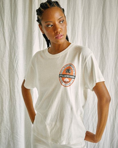 2 Camille Rowe | Rowe Brewing T-Shirt White AVJZT00348 RVCA