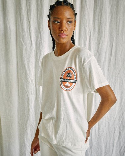 6 Camille Rowe | Rowe Brewing T-Shirt White AVJZT00348 RVCA