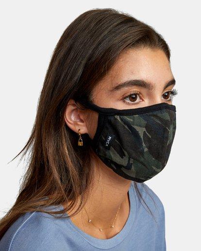 1 RVCA Face Mask Brown AVYAA00119 RVCA