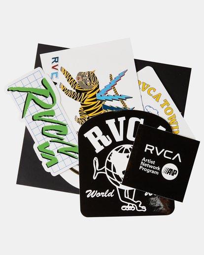 1 RVCA Sticker Pack Grey AVYAA00124 RVCA