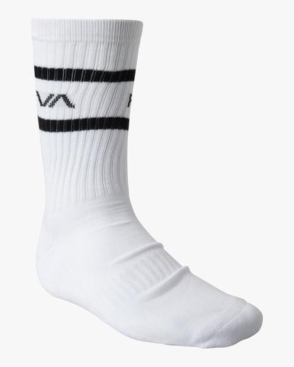 4 2 Pack Bandana Crew Socks Black AVYAA00184 RVCA