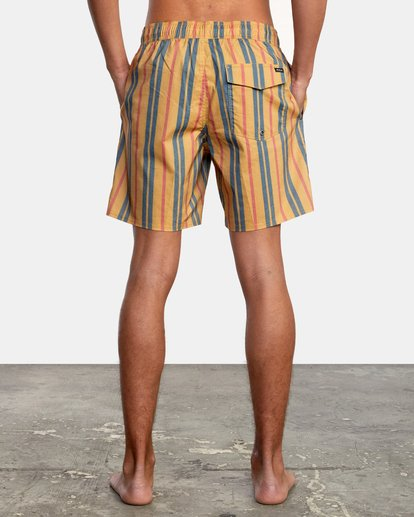 "2 Barnes Elastic Boardshorts 17"" Multicolor AVYBS00115 RVCA"