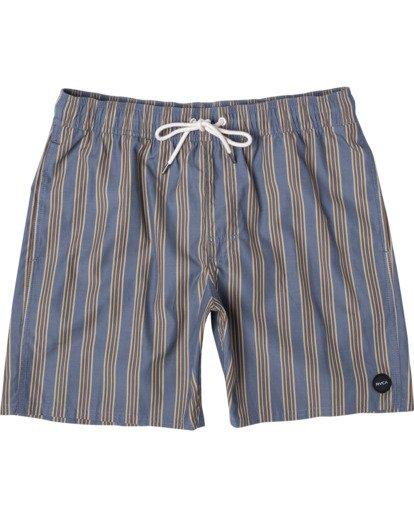 "0 Perry Elastic Boardshorts 17"" Blue AVYBS00126 RVCA"