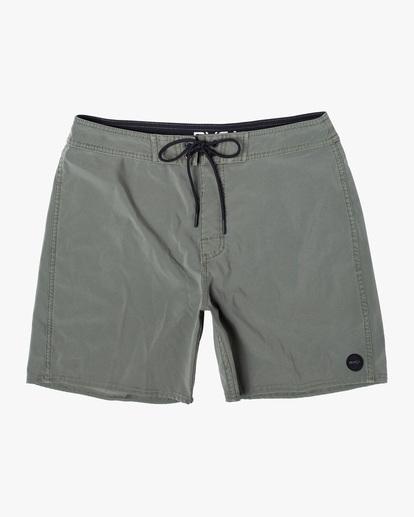 """0 VA Pigment Boardshorts 18"""" Green AVYBS00131 RVCA"""