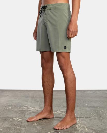 """4 VA Pigment Boardshorts 18"""" Green AVYBS00131 RVCA"""