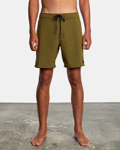 "1 VA Pigment Boardshorts 18"" Brown AVYBS00131 RVCA"