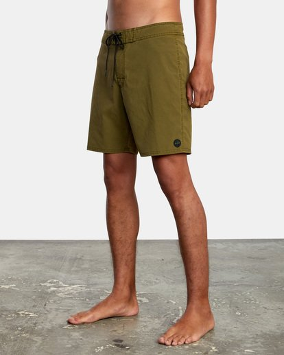 "4 VA Pigment Boardshorts 18"" Brown AVYBS00131 RVCA"