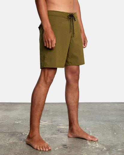 "6 VA Pigment Boardshorts 18"" Brown AVYBS00131 RVCA"