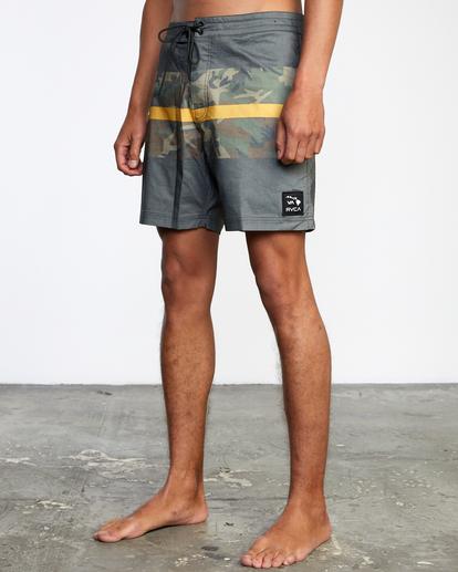 "4 Westport Hawaii Print Boardshorts 17"" Black AVYBS00143 RVCA"